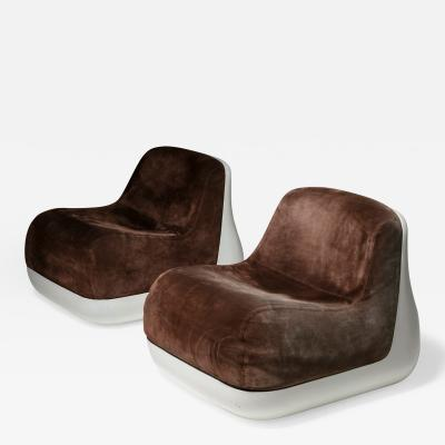 Saporiti Pair of Easy Chairs by Alberto Rosselli for Saporti