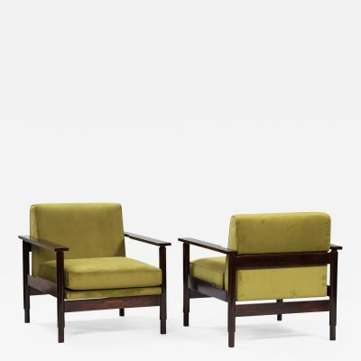 Saporiti Pair of Italian Armchairs