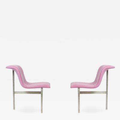 Saporiti Pair of Saporiti Italia Wave Chairs by Giovanni Offredi 1970s
