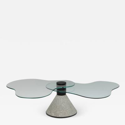 Saporiti Postmodern Coffee Table in the Manner of Saporiti 1980s