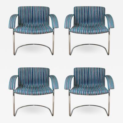 Saporiti Set of 4 Italian Mid Century Chairs by Saporiti Italia