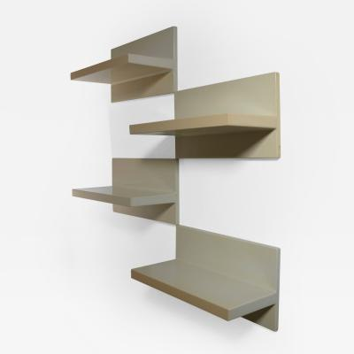 Saporiti Set of Four Saporiti Wall Shelves