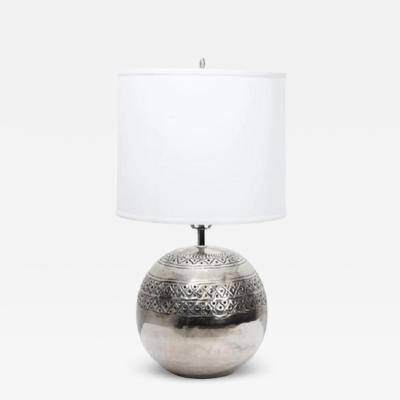 Sarreid Ltd Polished Nickel Lamp by Sarreid Ltd