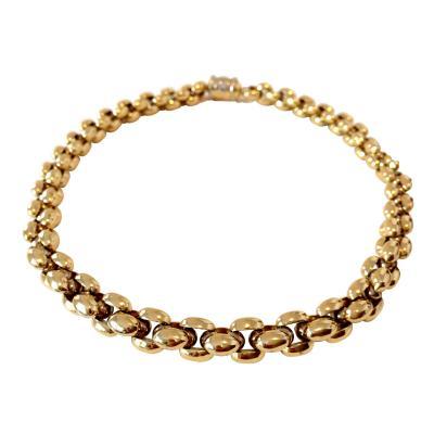 Sauro Classic 18k Gold Italian Necklace Signed Sauro