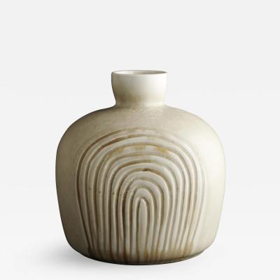 Saxbo Eva St hr Nielsen for Saxbo Beige Stout Rounded Vase