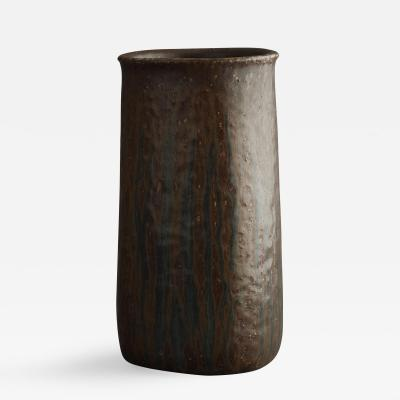 Saxbo Saxbo Brown Elongated Cylindrical Shaped Vase