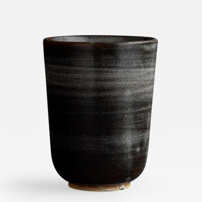 Saxbo Saxbo Brown Wide Mouthed Ceramic Vase