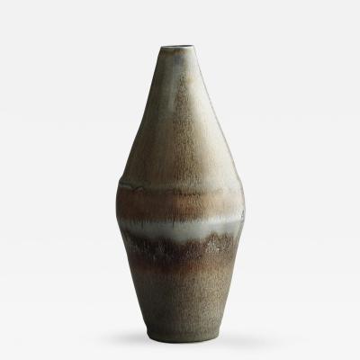Saxbo Saxbo Large Brown Gray Mottled Ceramic Vase