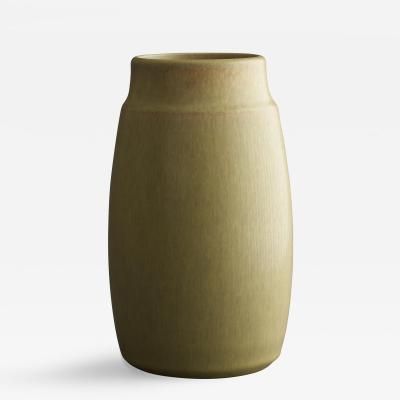 Saxbo Saxbo Large Cylindrical Shaped Muted Yellow Vase