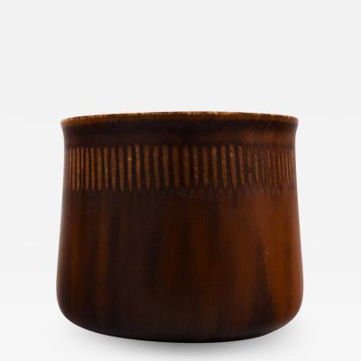 Saxbo Stoneware vase in modern design glaze in brown shades