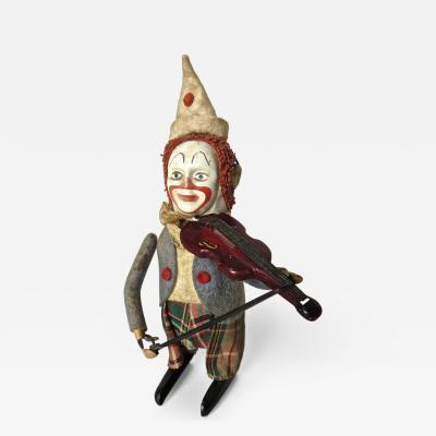 Schuco Company Schuco Clockwork Clown Violinist German Circa 1940