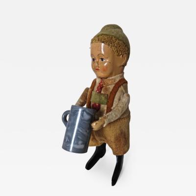 Schuco Company Schuco Clockwork Dancing Boy with a Beer Mug Germany Circa 1940