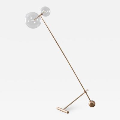 Schwung Contemporary Brass Floor Lamp by Schwung