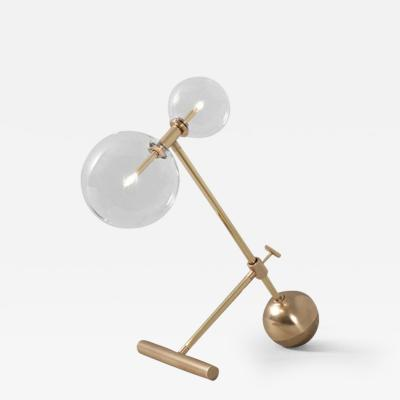 Schwung Contemporary Brass Table Lamp by Schwung