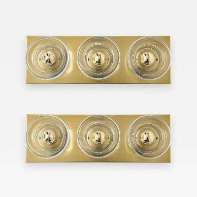 Sciolari Lighting Sciolari 3 Light Brass Sconces