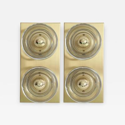 Sciolari Lighting Sciolari Cosack Brass and Glass Sconces