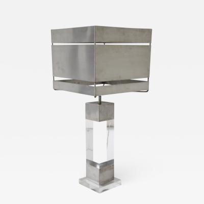 Sciolari Metal and Plexiglass Table Lamp