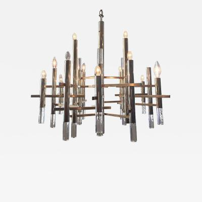 Sciolari Sciolari Chandelier with Brass Accents