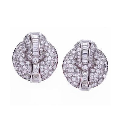 Seaman Schepps Seaman Schepps Domed Diamond Earclips