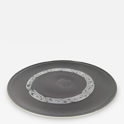 Seguso Large Blown Glass Plate by Seguso 1960s 1970s