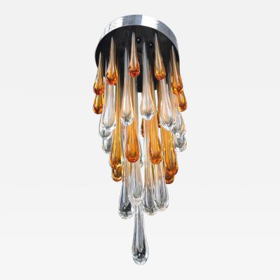 Seguso Late 1950s Ceiling Light in Murano Glass