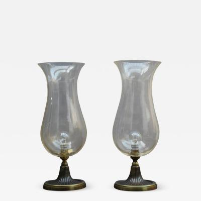 Seguso PAIR OF FINE ITALIAN MID CENTURY TABLE LAMPS BY SEGUSO