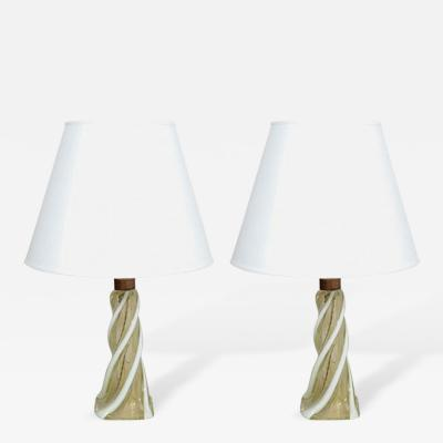 Seguso Pair of 1950s Seguso Table Lamps