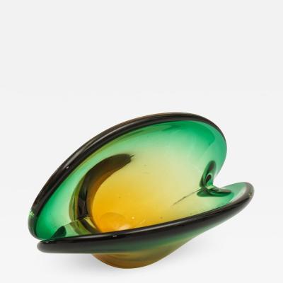 Seguso Seguso Dalla Venezia Glass Clam Shell Bowl