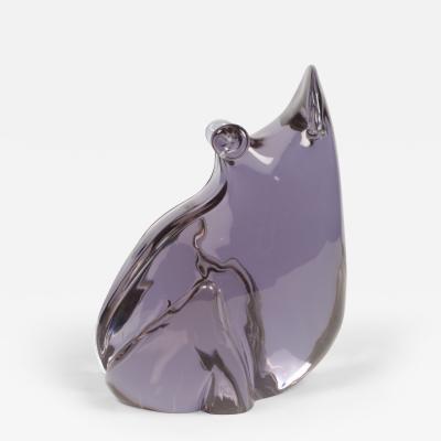 Seguso Seguso Glass Signed Lavender Frog