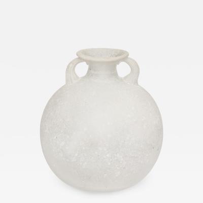 Seguso Seguso Scavo Corroso Vase With Handles