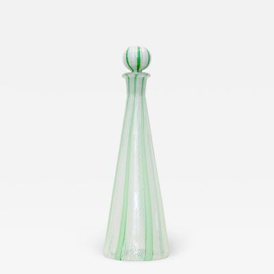 Seguso Verti d Arte Seguso Vetri dArte Filigree Blown Glass Decanter 1960 Italy