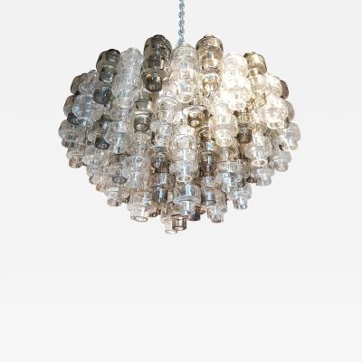 Seguso Vetri dArte Murano Glass Mid Century Modern Seguso Barbell Chandelier Flush Mount