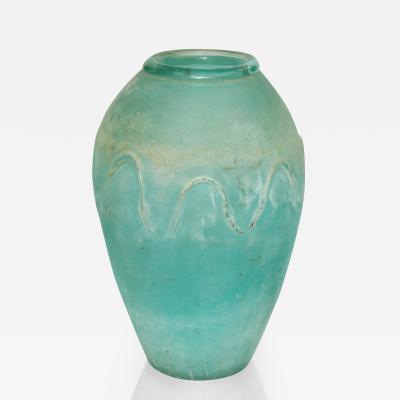 Seguso Vetri dArte Tall Vintage Seguso Scavo Vase