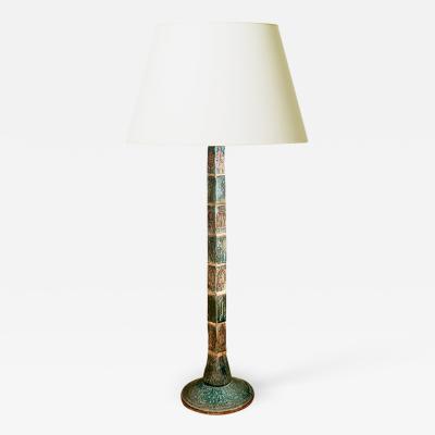 Sejer Keramikfabrik Sculptural Standing Lamp Clad in Tile by Sejer SKeramikfabrik