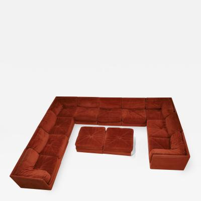 Selig Furniture Co Cubo Sectional in Velvet by Selig 12 Pieces