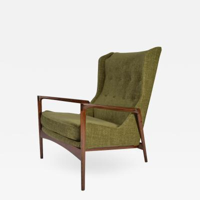 Selig Furniture Co IB Kofod Larsen for Selig Wingback Lounge Chair