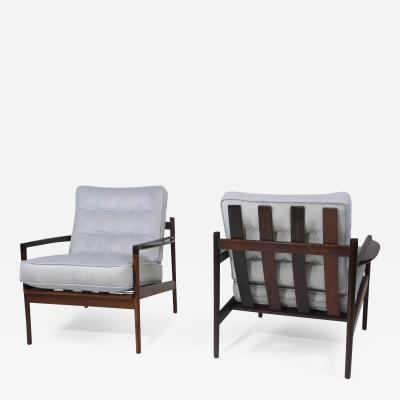 Selig Furniture Co IB Kofoed Larsen Rosewood Lounge Chairs