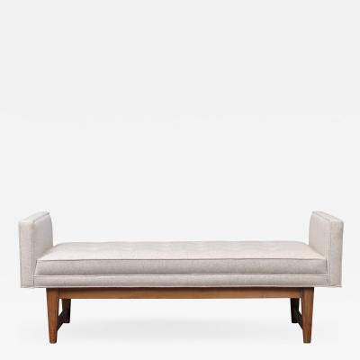Selig Furniture Co Mid Century Modern Upholstered Bench by Selig