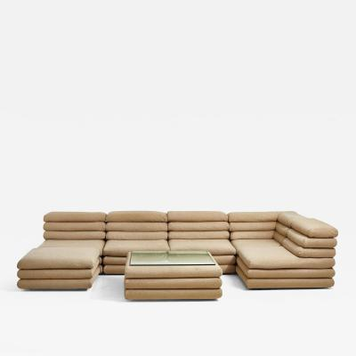 Selig Furniture Co Modular Channel Stacked Sofa 1970 s