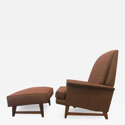 Selig Furniture Co Reclining Lounge Chair and Ottoman by Selig