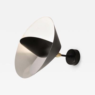 Serge Mouille USA Serge Mouille Saturn Wall Lamp in Black