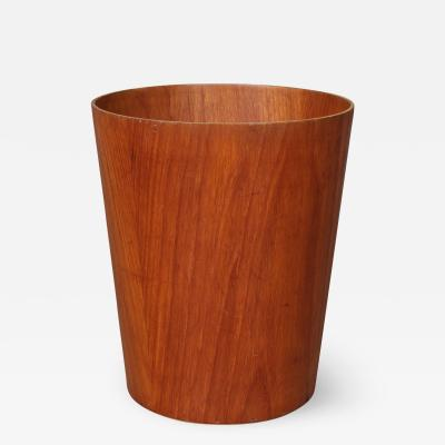 Servex Sewex Conical trash can of veneered teak
