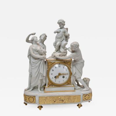 Sevres Biscuit Porcelain Clock