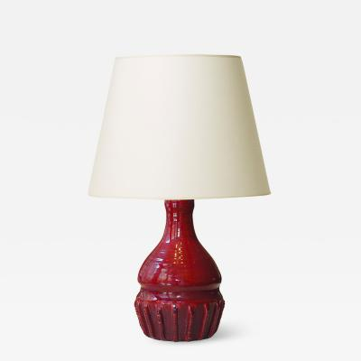 Sevres Manufacture Nationale de S vres Table lamp oxblood glaze by Paul Milet for S vres
