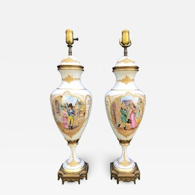 Sevres Pair of 19th Century S vres Porcelain Vases France