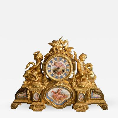 Sevres S vres Porcelain with Dor Bronze Clock