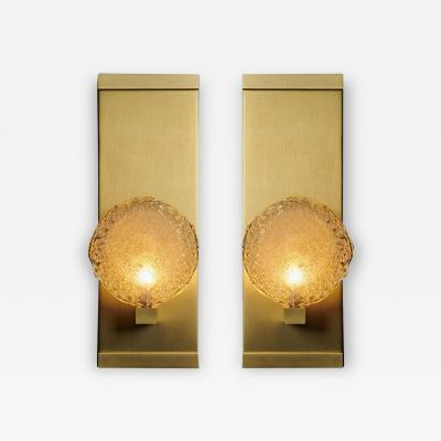 Shakuff Lighting Crystal Shell Blown Glass Luxe Sconces by Shakuff
