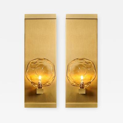 Shakuff Lighting Nimbus Blown Glass Luxe Sconces by Shakuff