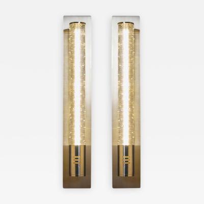Shakuff Lighting Tamar Wand Blown Glass Sconces by Shakuff