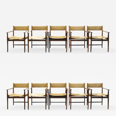 Sibast Furniture Co Kurt Ostervig Set of 10 Rosewood Dining Chairs 1960s